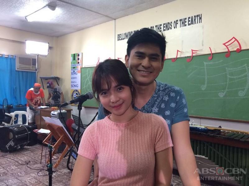 LOOK: More kilig photos of Elmo and Janella on the set of Wansapanataym