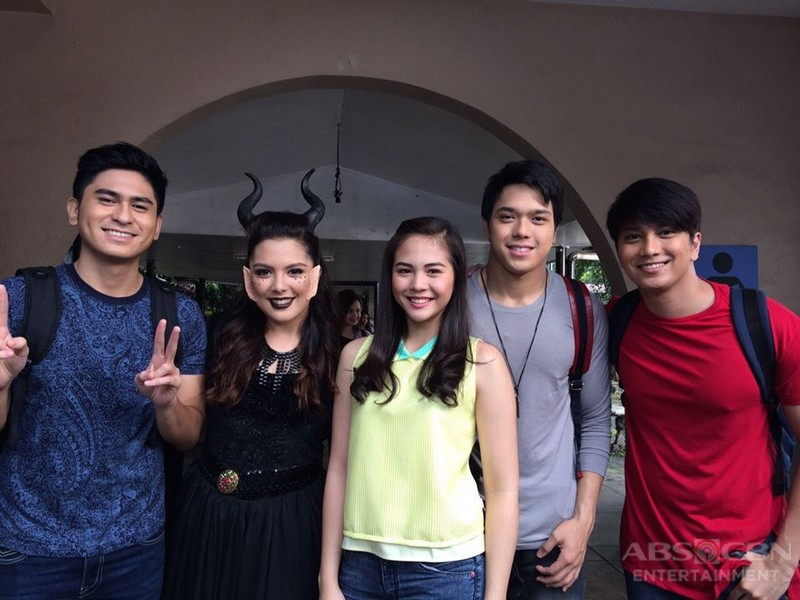 LOOK: More kilig photos of Elmo and Janella on the set of Wansapanataym